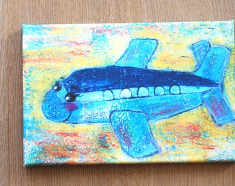 Airplane printing on canvas