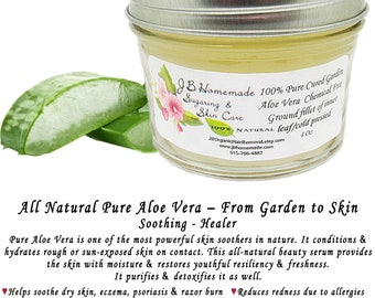 Pure Aloe Vera, Chemical Free Aloe, Aloe Vera Gel, Natural Aloe Vera, Aloe Vera, Natural Skin Care, Soothing Aloe, Natural Skin Toner, 4 Oz