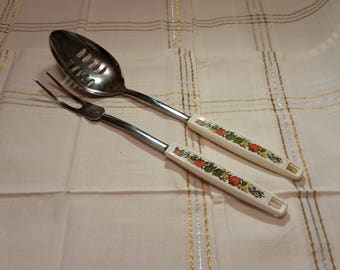 Ekco Vintage Slotted Spoon & Meat Fork Set