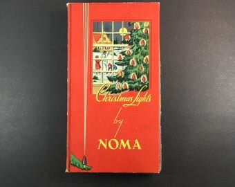 Noma Christmas Lights Tested Working Indoor Set of Holiday Lighting Vintage Christmas Original Box 1940s