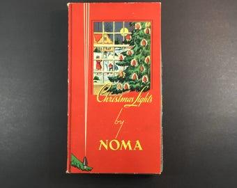 Noma Christmas Lights Tested Working Indoor Set of Holiday Lighting Vintage Christmas Original Box 1940s