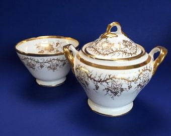 2 Serving Bowls Cauldon China England for Gilman Collamore New York Gold