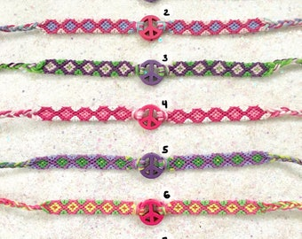PEACE FRIENDSHIP BRACELETS sale