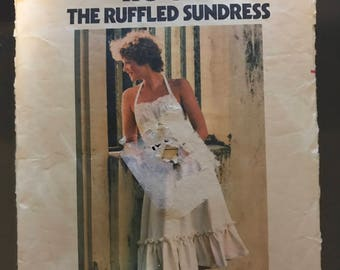 Butterick 4826 - 1970s Tie On Ruffled Sundress - Size Medium Bust 34 36