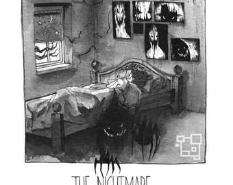 The Nightmare - Inktober - Print - Halloween