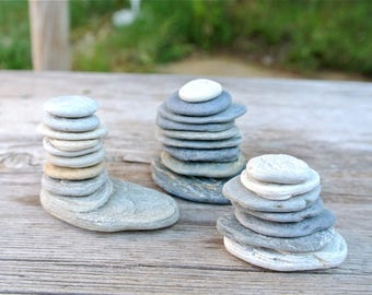 Beach Stone Sculptures, Zen Stones, Meditation Stones, Cairn, Balancing Stones, Stone Sculptures, Beach Stones, Home Decor