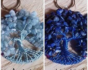 RESERVED - Lapis Lazuli Keyring and Aquamarine Keyring.