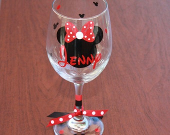 Mickey or Minnie Personalized Glasses, Disney Gifts, Disney Martini, Disney Wine, Disney Coffee mug, personalized gifts