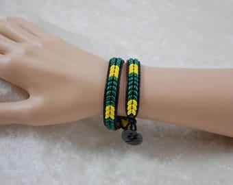 Duck Colors Double Wrap Bracelet