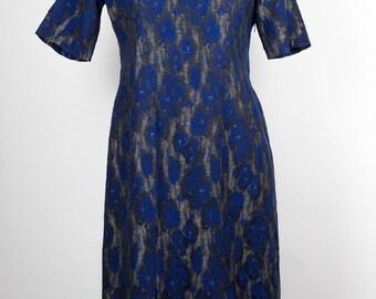 Vintage Dress //50s//60s // Blue //Grey //
