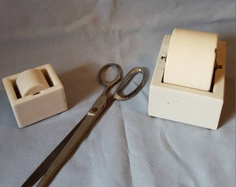 Vintage Office Supplies - 1920s 1930s - Vintage Tape Rolls - Vintage Scissors - Antique Office Equipment