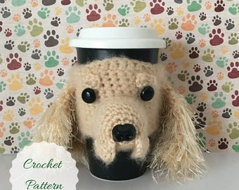 Dog Crochet Pattern - Mug Cozy Pattern - Amigurumi Patterns - Crochet Pattern Dog - Crochet Dog Pattern - Amigurumi Dog - Crochet Pattern
