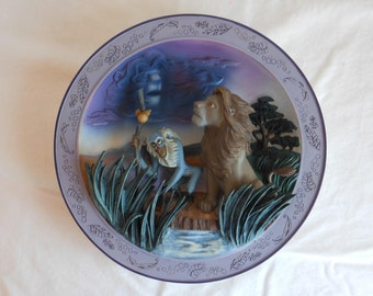 Disney The Lion King 3D Remember Who You Are Collectible Limited Edition Plate