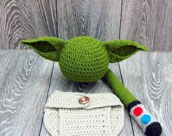 Baby Yoda Costume, Star Wars inspired costume, Yoda Baby Hat, Star Wars Baby, Newborn Star Wars Gift, Baby Boy Hat, Star Wars Christmas gift