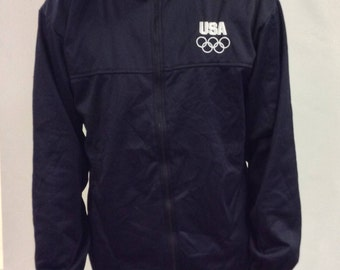Vintage Team USA Olympic Zip Up Embroidered Jacket