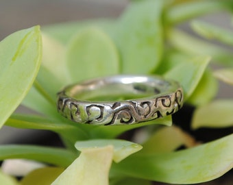 Circle silver ring, circle rings, sterling silver rings, vintage circle ring, vintage circle rings, vintage silver circle rings