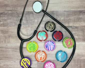 Stethoscope ID Tag | Stethoscope Clip | Nurse Gift | Dr. Gift | Respiratory Therapy Gift | Gift For Her | Monogram ID Tag