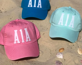 Handmade Highway A1A Hat - Mint, Pink, or Turquoise Options