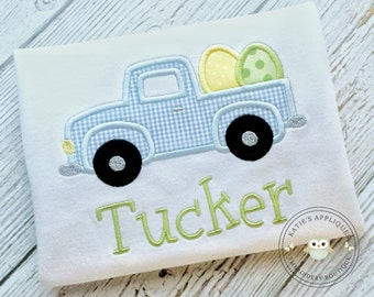 Easter Applique Shirt, Truck Applique, Easter Truck Applique, Boy Easter Shirt, Boys Easter, Easter Truck Shirt, Personalized, Boys, Boy