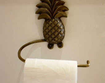 Brass Pineapple Design Toilet Paper Holder