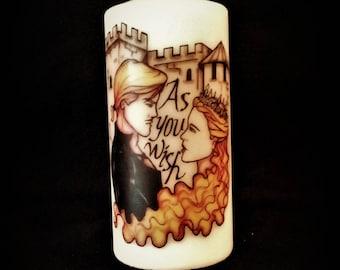 The Princess Bride Original Fan Art Candle