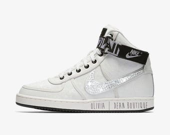 Custom Nike Vandal High LX Sneakers with Swarovski Crystals