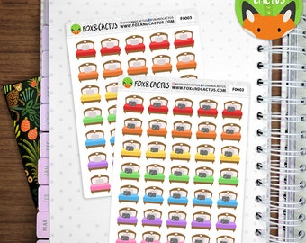 Beds - Bed Sheets Change Sheets Lazy Day Nap Sleep In - Planner Stickers (F0003)