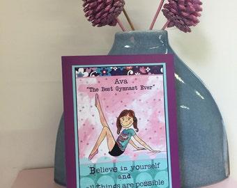Gymnastic Art, Personalised Gift for Gymnasts, Gymnastic Gift, Girl Gift Idea, Gymnast Girl, Sporty Girl, Gymnastic Decor, Gymnast Birthday