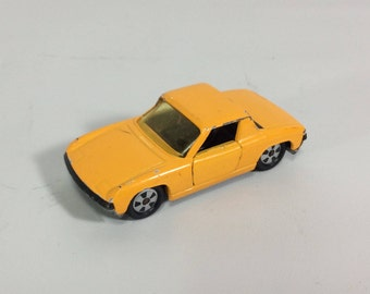VW Porsche 914 Diecast Car SIKU V312 Made in Germany 1:60 Scale Vintage Diecast Toy Porsche Yellow
