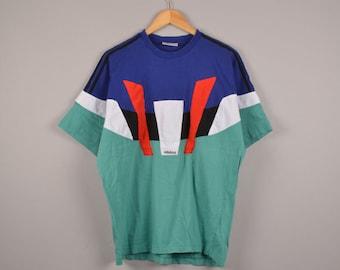 vintage adidas tee, adidas tanktop, adidas t-shirt, adidas vintage, 90's streetwear,women's clothing,sleeveless adidas trefoil t-shirt