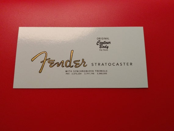 63' Fender Stratocaster Custom Waterslide Decal