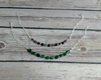 Beaded Anklet, Purple Beaded Anklet, Green Beaded Anklet, Foot Jewelry, Beach Jewelry, Foot Bracelet, Anklet Bracelet, Summer Jewelry, Gifts
