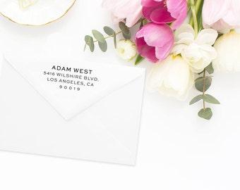 Return Address Stamp, Address Stamp, Custom Address Stamp, Wedding Return Address Stamp, Personalized Return Address Stamp, Rubber Stamp #65