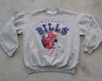 Vintage 90's Buffalo Bills grey Crew-neck sweatshirt Made in Canada large