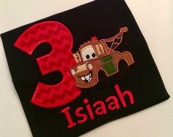 Mater birthday shirt - Cars birthday shirt - First birthday shirt - Pixar birthday shirt - Disney birthday shirt