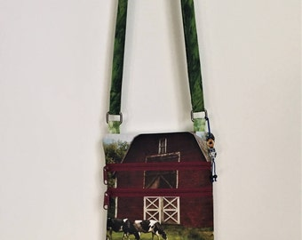 Small Cross Body Purse Hands Free Proud to be a Farm Girl State Fair Memories Cross Body Bag