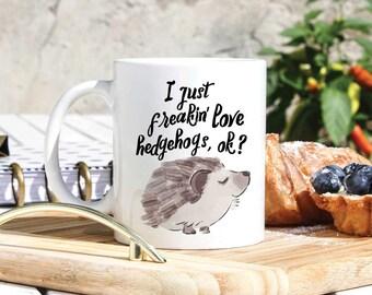 Hedgehog Lover Coffee Mug - Cute Hegdehogs Mug - Hedgehog Owner Gift - Hedgehog Person Gifts - Funny Hedgehog Mug - Hedgehog Home Decor