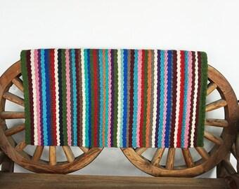Unique Hand Loomed Wool western Trail Barrel Show Horse Blanket Rug Pad 34 x 34