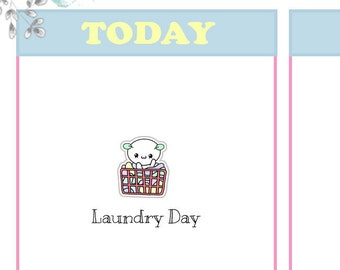 Momo - Laundry Day Planner Stickers