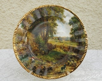 Vintage Bone China Collectable Plate - The Cornfield by John Constable