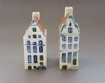 Royal Goedewaagen Ceramic Dutch Houses, replicas of 64 Singel and 91 Herengracht Canal Houses