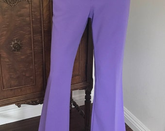 1970's Levi's for Gal's / retro / hippy / bell bottoms /  lavender /  rockabilly
