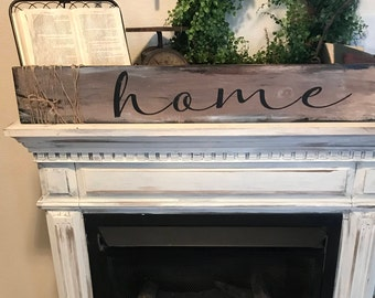 Rustic home sign / farmhouse sign / hand painted wall decor