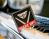 WAKE UP Sticker, Custom Sticker, Laptop Sticker, Anonymous Laptop sticker, iPhone stickers, sticker Macbook, Buy Stickers, Rebellion Sticker