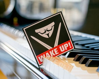 WAKE UP Sticker, Custom Sticker, Laptop Sticker, Anonymous Laptop sticker, iPhone stickers, sticker Macbook, Buy Stickers, Rebellion Sticker