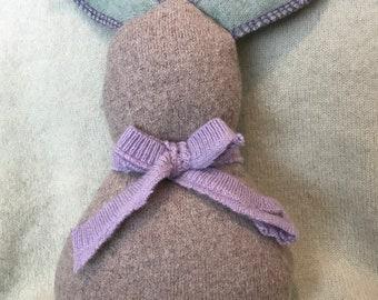 Upcycled Wool Stuffed Bunny