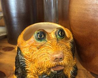 ceramic dog head