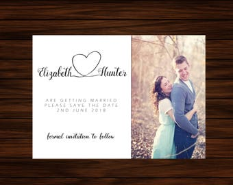 Simple Save the Date with Photo by PrintablePapery [printable]