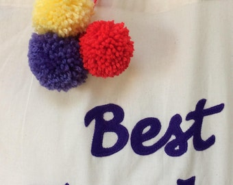 Add Pom Poms - Bolt on Listing for Tote Bags