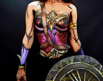 Wonder Woman Bodypaint Print